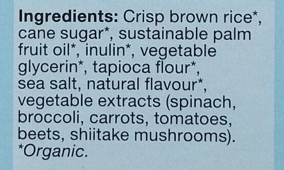Carrés croustillants à la vanille - Ingredients - en