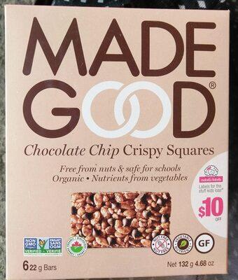 Chocolate Chip Crispy Squares - Product - en