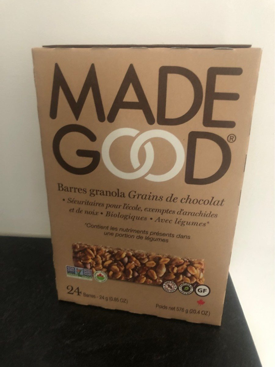 Barres granola grains de chocolat - Product