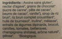 Barres granola grains de chocolat - Ingredients - fr