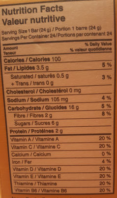 Made Good Sweet & Salty Granola Bars - Nutrition facts - en