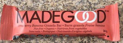 Barre granola fraise banane - Produit - fr