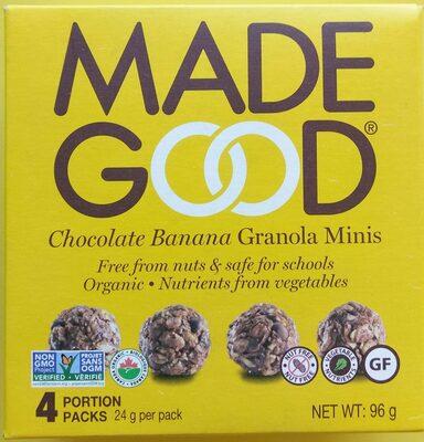 Chocolate Banana Organic Granola Minis - Product