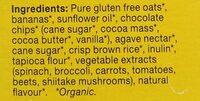 Chocolate Banana Organic Granola Minis - Ingrediënten