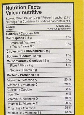 Chocolate Banana Granola mini - Nutrition facts - en