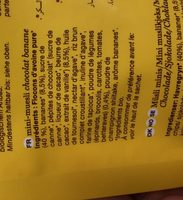 Billes De Cereales Bio Granola Chocolat Banane - Ingrédients