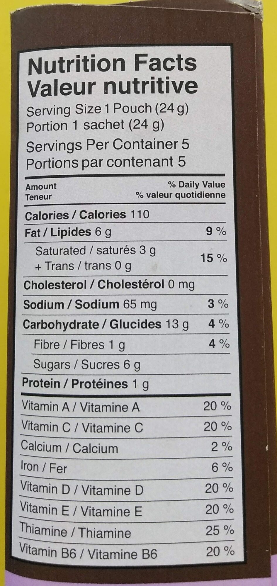 Soft Baked Mini Cookies Double Chocolate - Nutrition facts