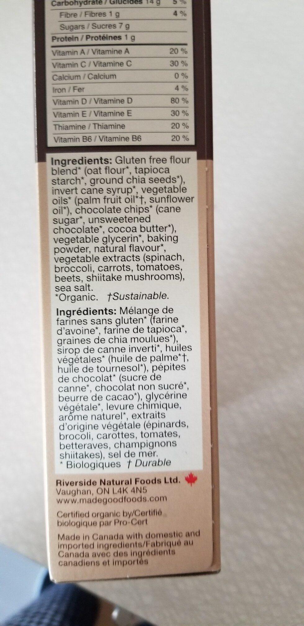 Mini-biscuits moelleux - Ingredients - en
