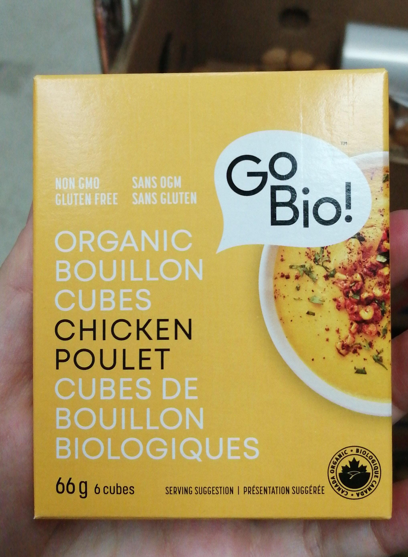 Gobio! Organic Chicken Bouillon Cubes - Produit - fr