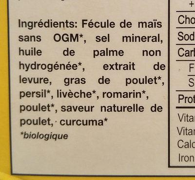 Gobio! Organic Chicken Bouillon Cubes - Ingrédients - fr