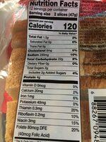 Sandwich whitebread - Nutrition facts - en