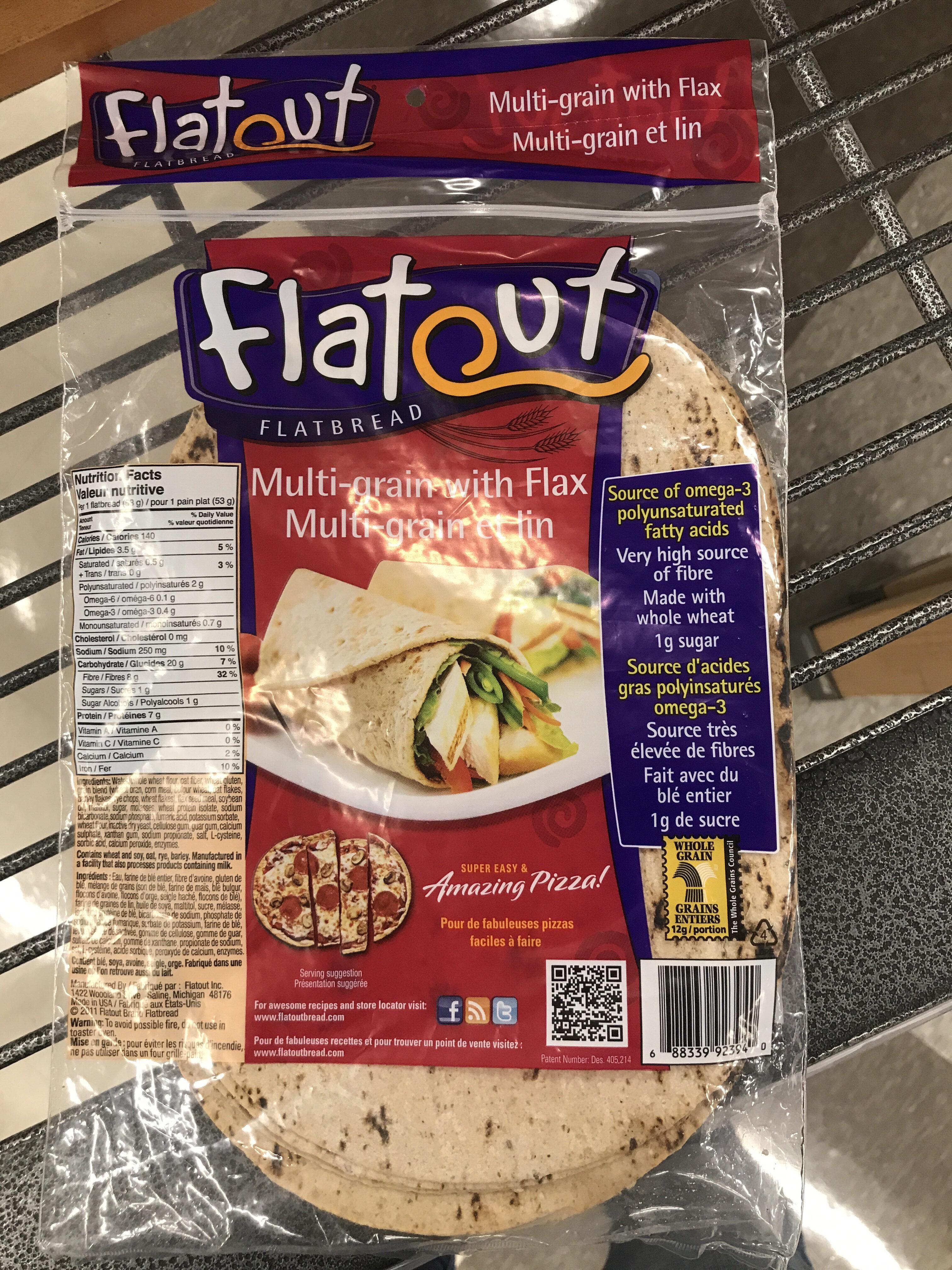 Flatout, Multigrain Flatbread With Flax - Product