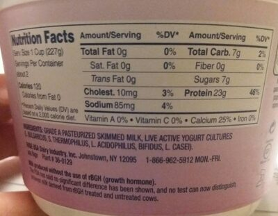 Total 0% - Nutrition facts