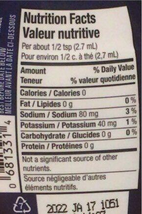 MiO SPORT électrolytes citron lime - Nutrition facts - en