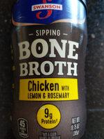 Swanson bone broth chicken lemon rosemary - Product - en