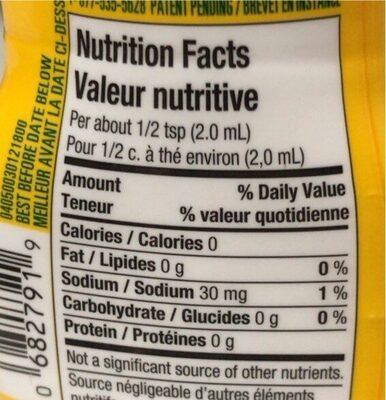 Orange et ananas - Nutrition facts - fr
