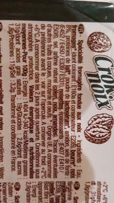 crok noix - Ingredients