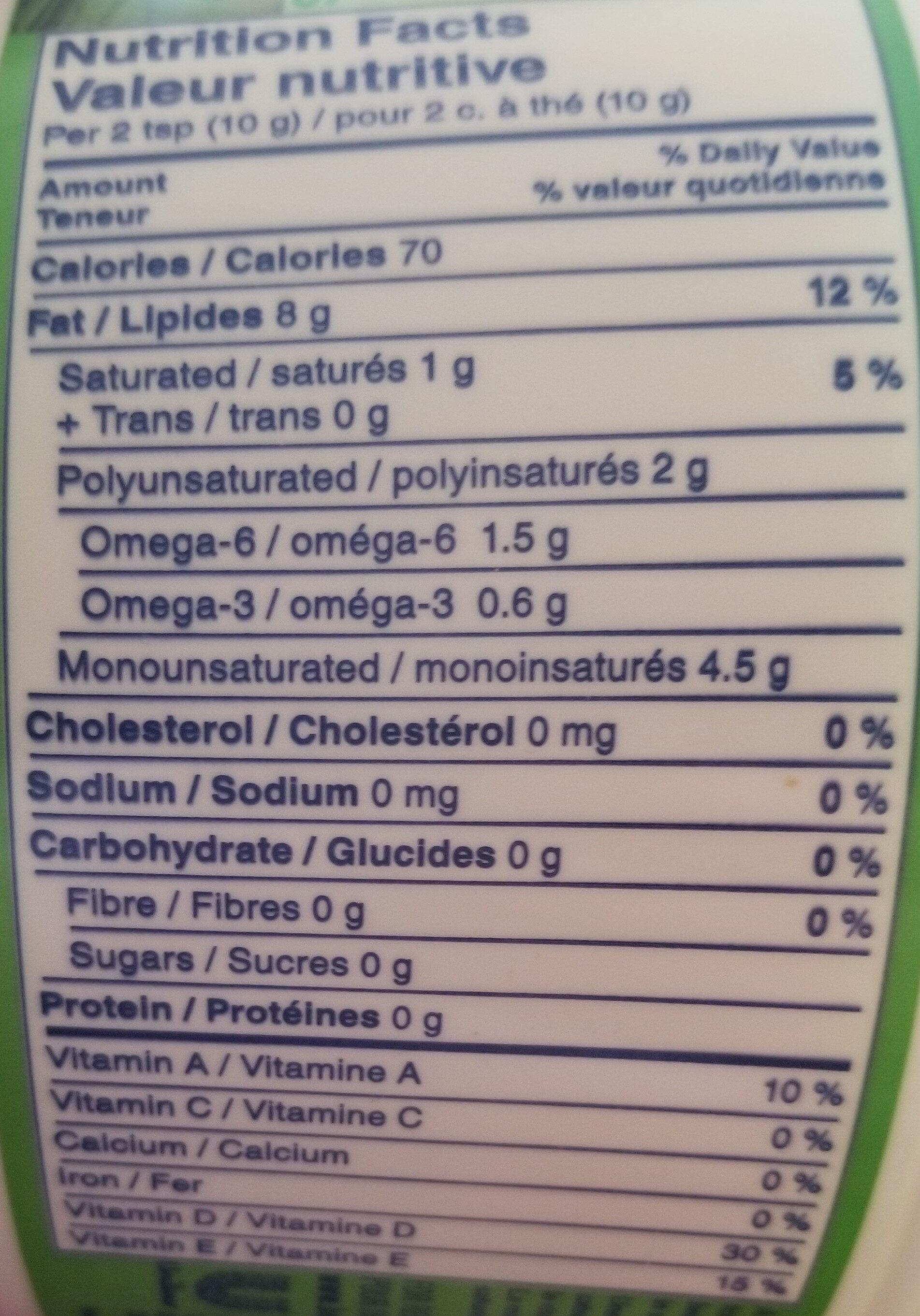 Margarine sans sel - Informations nutritionnelles - fr