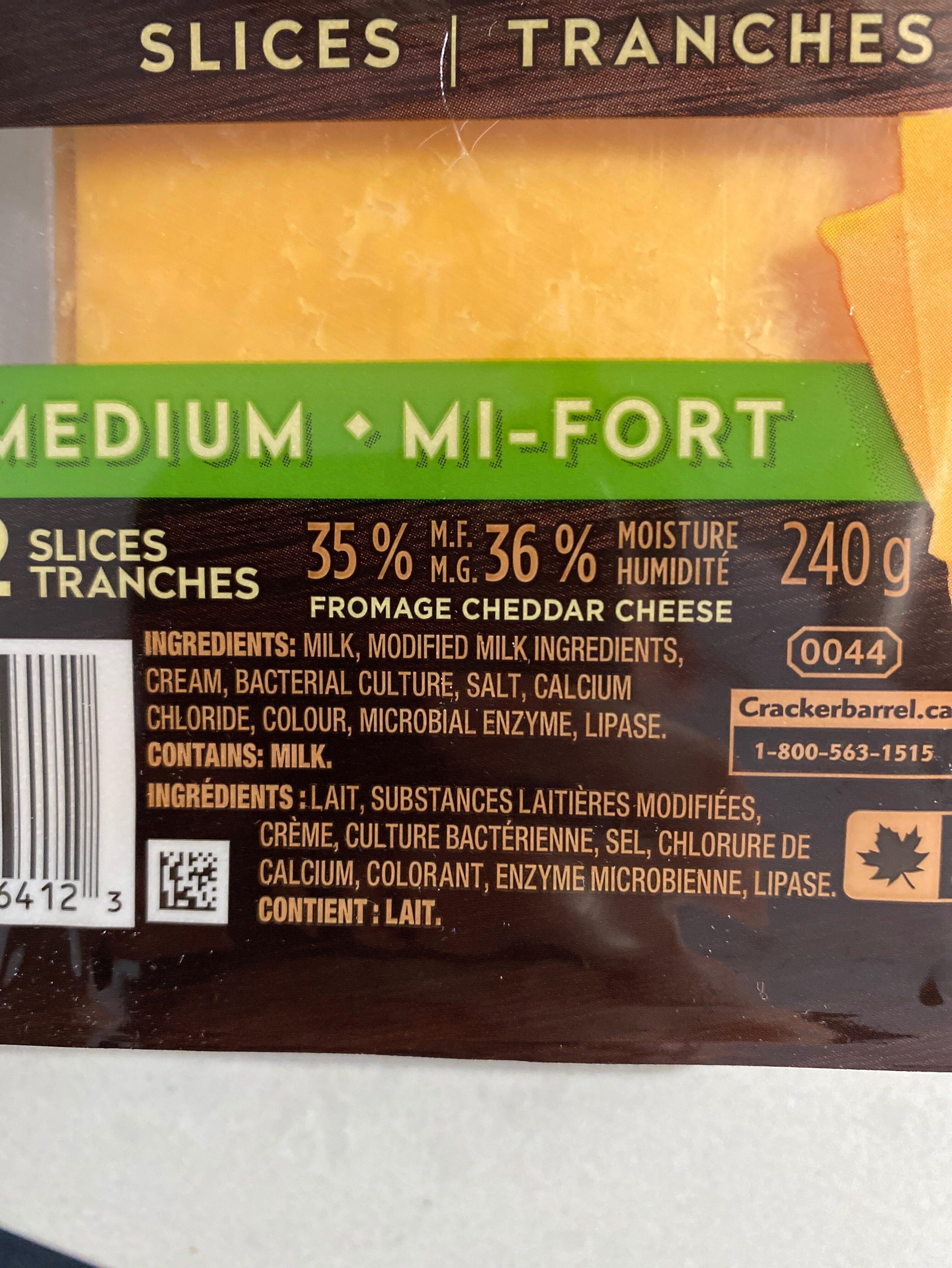 Tranches Medium - Ingredients - fr