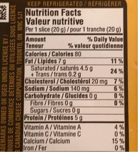 Tranches Medium - Nutrition facts - fr