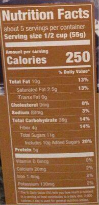 Original swiss granola - Nutrition facts - en