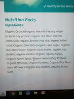 Organic dark chocolate almond - Ingredients