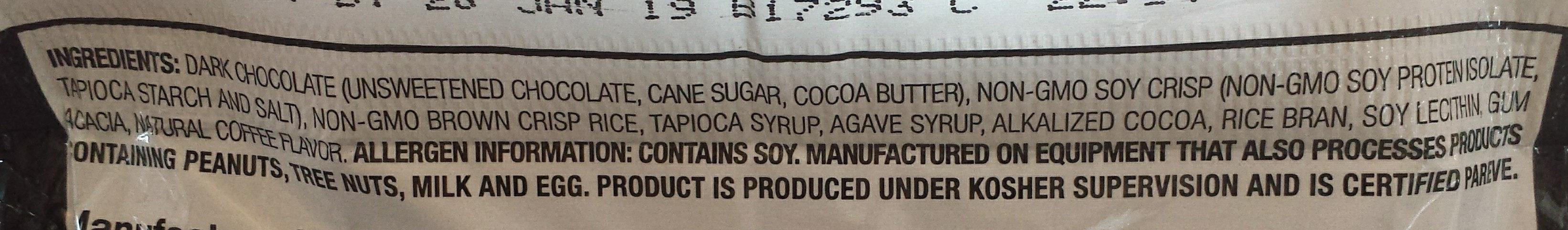 Real Dark Chocolate Protein Bar - Ingredients