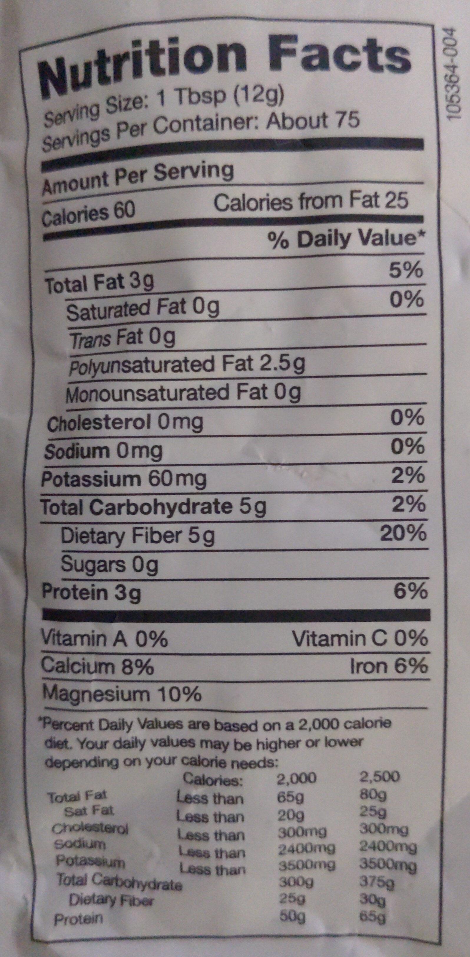 Chia Seed Black - Nutrition facts - en