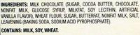 Petit Ecolier milk chocolate - Ingredients