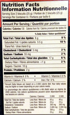 Lu petit ecolier cookies milk chocolate 1x5.29 oz - Nutrition facts
