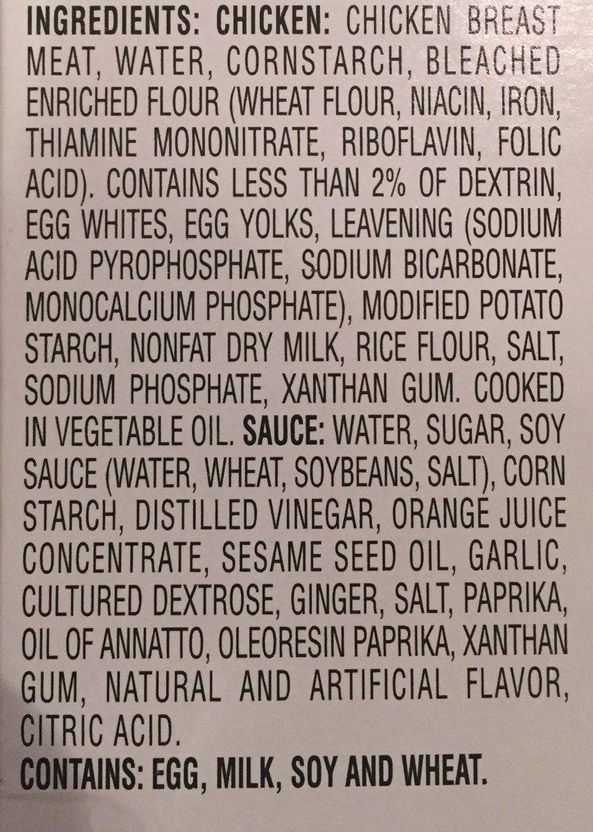 Orange Chicken - Ingredients