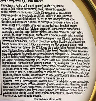 Mini Madeleines Assorties - Ingredients - fr