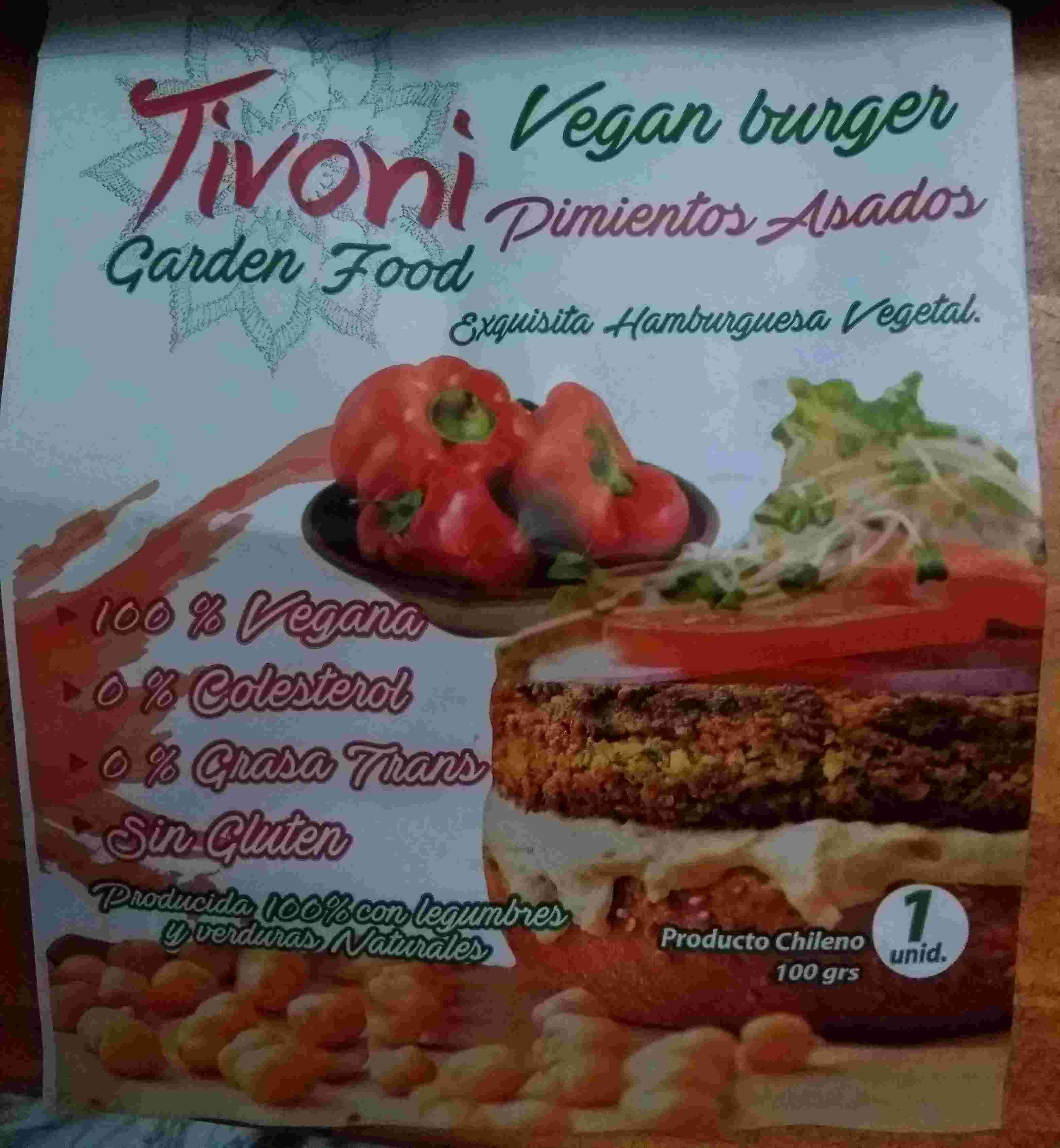 Hamburguesa de pimientos asados Tivoni - Product