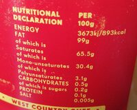 Ghee - Nutrition facts