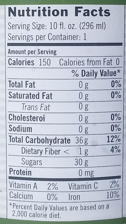 100% Gravenstein Apple Juice - Nutrition facts - en