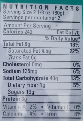 Colossal Chocolate Chip Cookie - Nutrition facts - en
