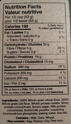 Power cake mélange à crêpes et gaufres - Informations nutritionnelles - fr