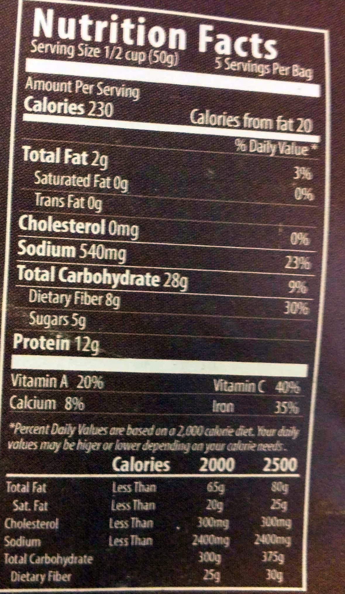 Classic Chili - Nutrition facts - en