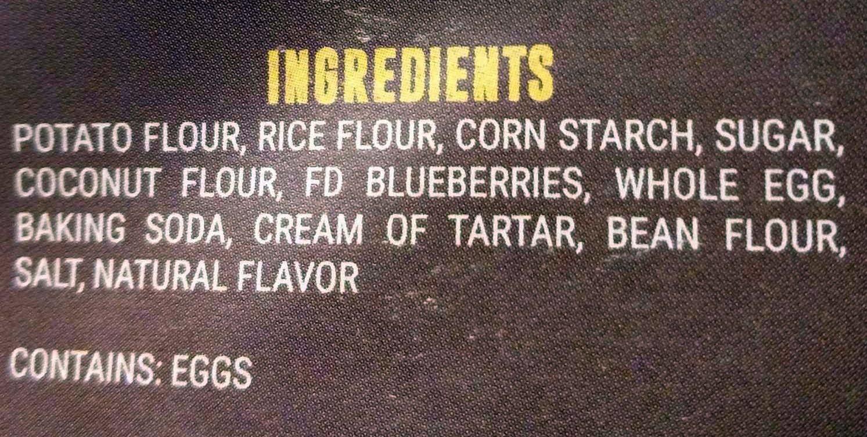 GLUTEN FREE BLUEBERRY PANCAKES - Ingredients - en