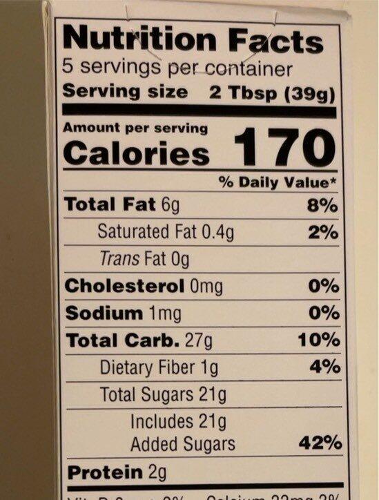 Marzipan - Voedingswaarden - en