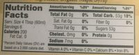 Organic Maple Syrup - Nutrition facts