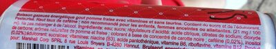 Mammoth Energy Drink - Ingrédients - fr