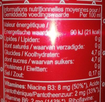 Mammoth Energy Drink - Informations nutritionnelles - fr