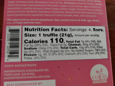 Sparkle & Spice Collection - Nutrition facts