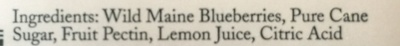 Wild Maine Blueberry Jam - Ingredients