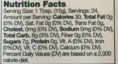 Wild Maine Blueberry Jam - Nutrition facts
