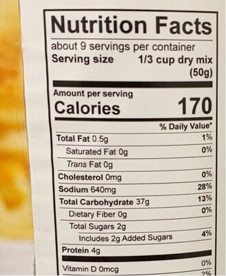 Farmhouse pancake and waffle mix - Nutrition facts - en