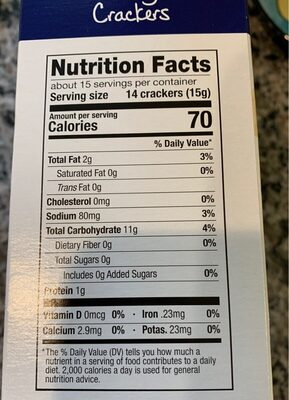 House Oyster Crackers - Nutrition facts - en