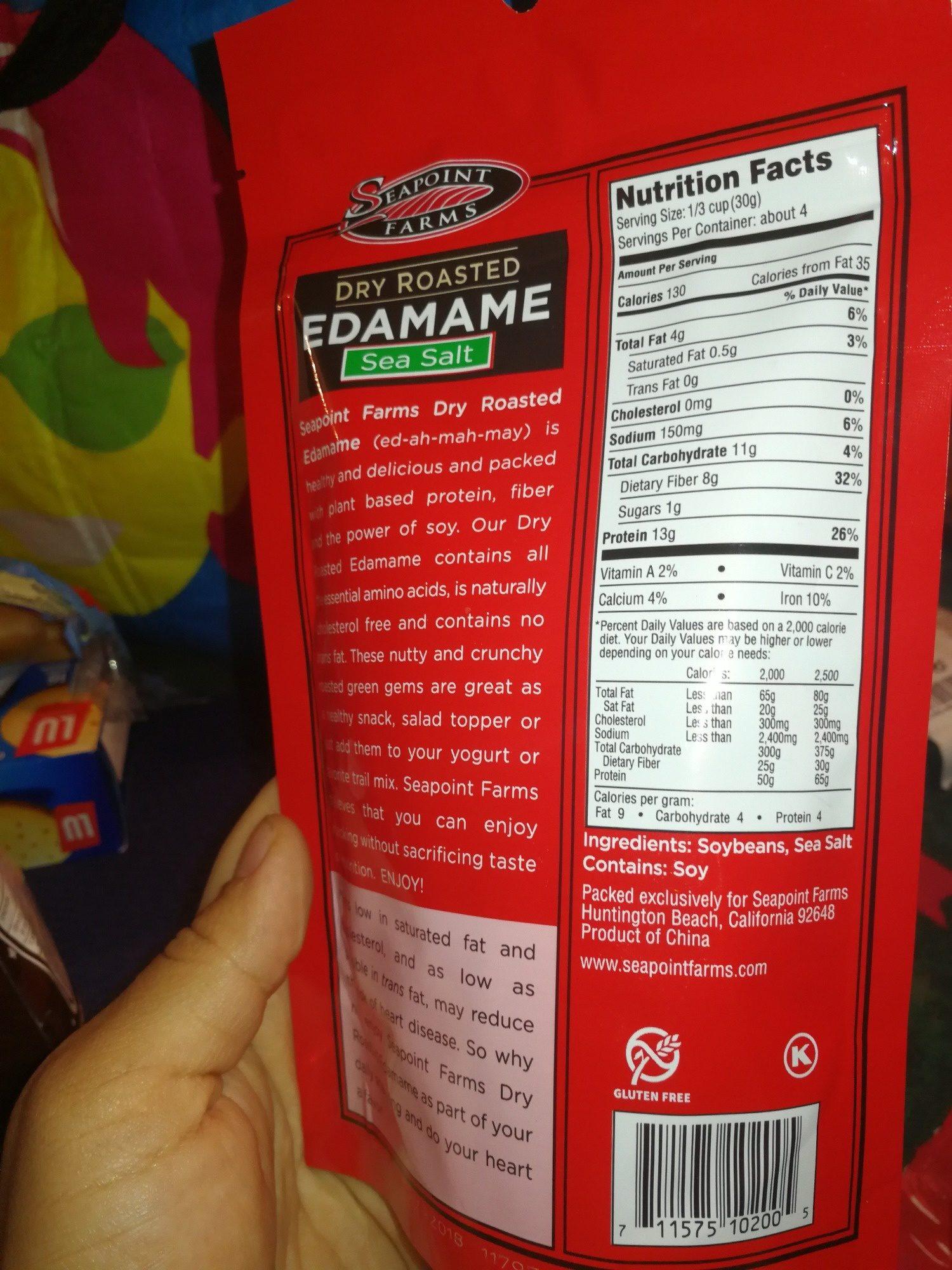 Dry Roasted Edamame Sea Salt - Product