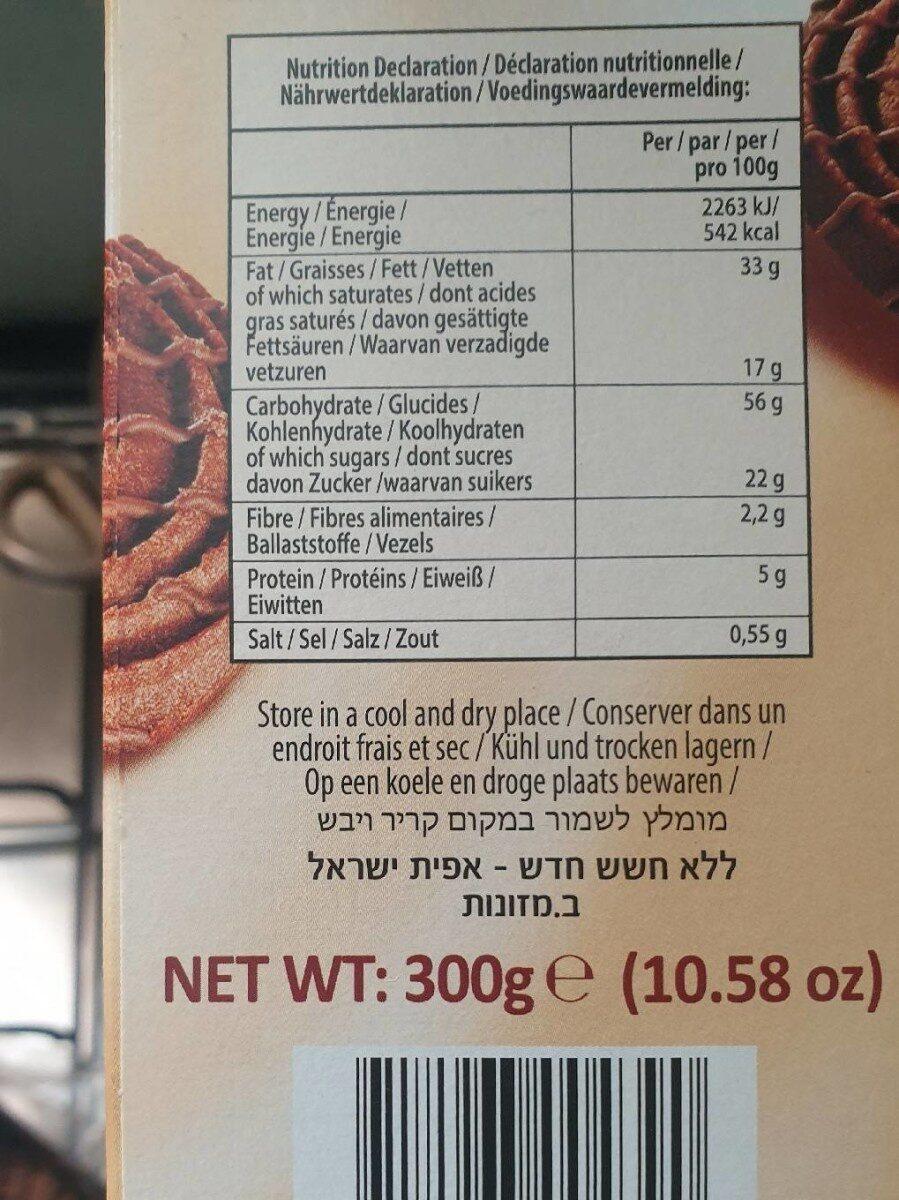 Biscuit au chocolat noir - Voedingswaarden - fr